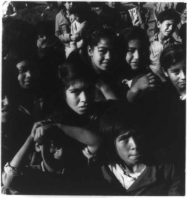 Pea pickers' children, Nipomo, Calif.