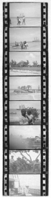 [People on beach, from Bahamas expedition, 1935]