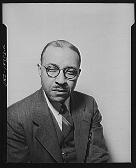 Portrait of Dr. Charles Johnson, sociologist at Fisk University, Nashville, Tennessee