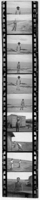 [Portraits of people standing outdoors, including Zora Neale Hurston in bottom frame.  Photos probably taken in Belle Glade, Fla., during the Georgia, Florida and Bahamas expedition, 1935]