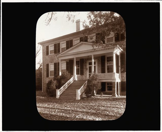 [Prestwould, Clarksville vicinity, Mecklenburg County, Virginia. Pedimented entrance]