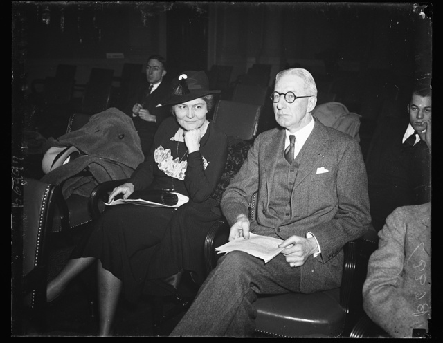 Protecting your health. Josephine Roche, left, Assistant Secretary of Treasury, and Surgeon General H.S. Cumming, appear before the House Ways and Means Committee and reported that $200,000,000 is needed for state and federal health work. 1/28/35