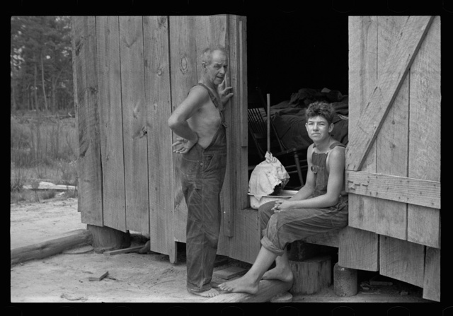 Rehabilitation client and son, Pike County, Mississippi