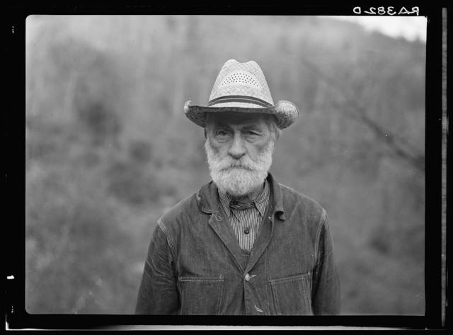 Russ Nicholson, grandfather of all the Nicholsons in Nicholson Hollow. Shenandoah National Park, Virginia
