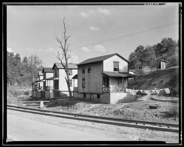 Scott's Run mining camps near Morgantown, West Virginia. Company houses