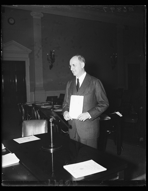 Sec. Henry Morgenthau at congressional hearing. 1/21/35