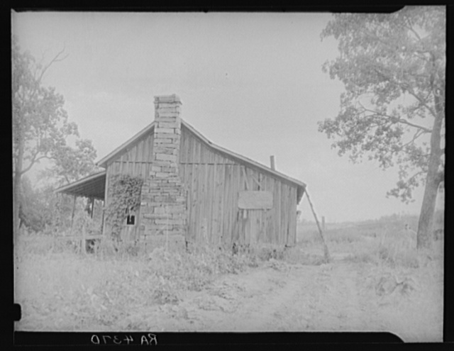 Sharecropper's cabin. Washington County, Arkansas