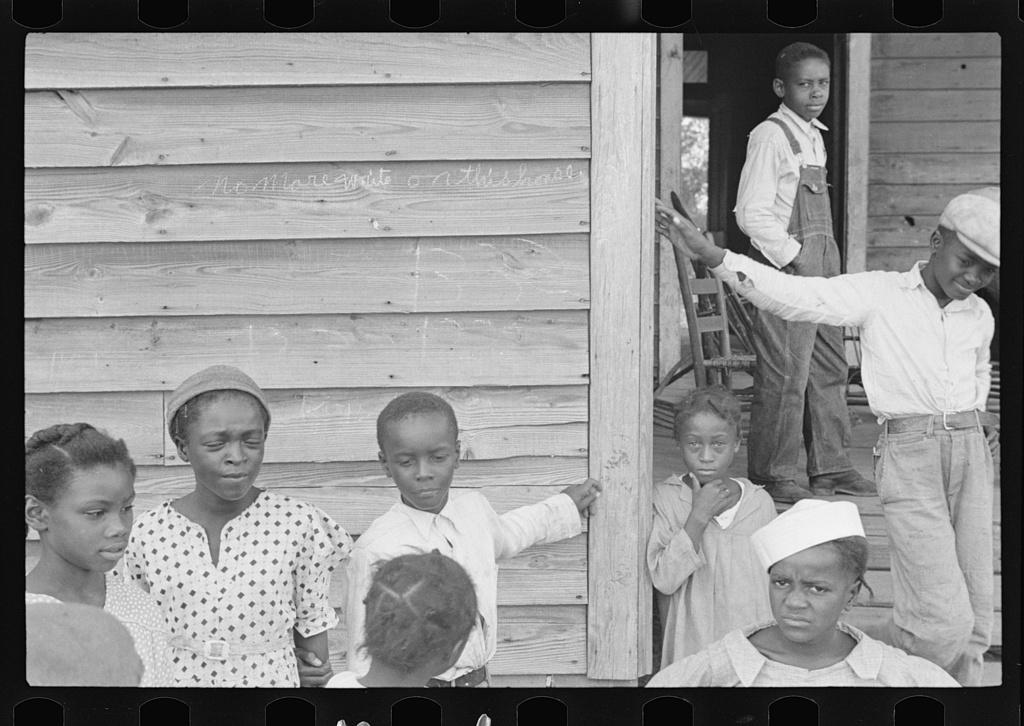 Sharecroppers' children on Sunday, near Little Rock, Arkansas