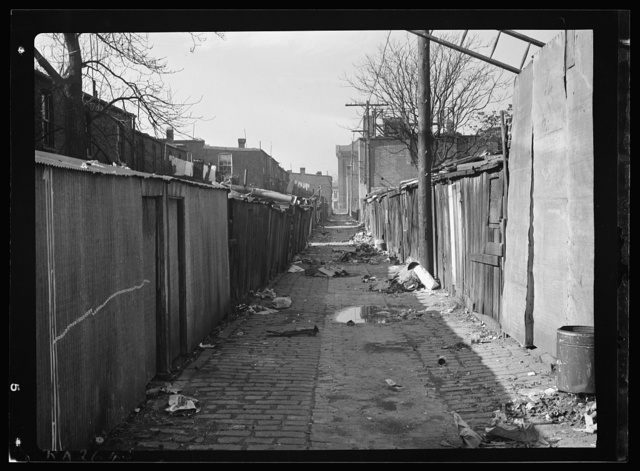 Slum alley in Washington, D.C.