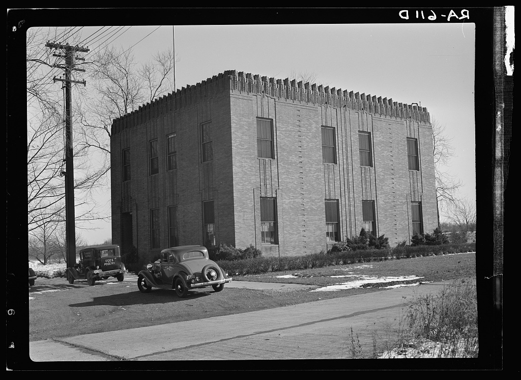 Telephone exchange. Radburn, New Jersey