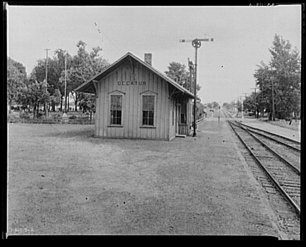 The Nickle Plate Railroad depot in Decatur, Indiana