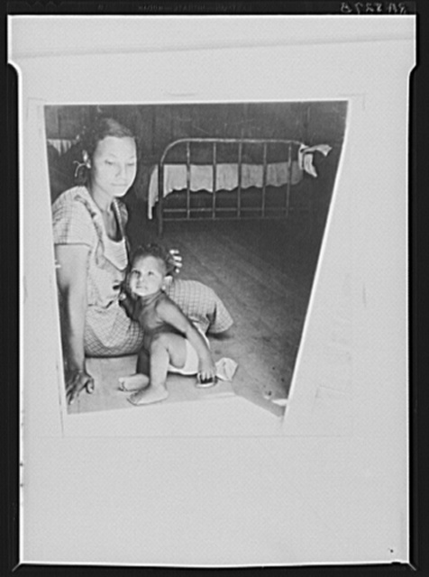 Truck driver's family. Imperial Valley, California