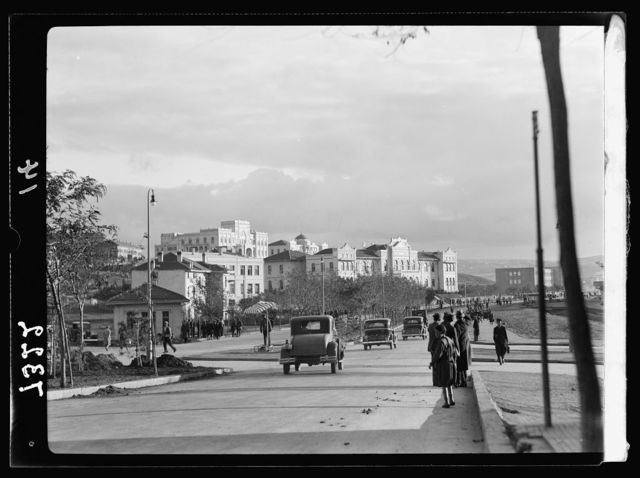 Turkey. Ankara. Main boulevard to Yeni Shehir showing govt. [i.e., government] buildings