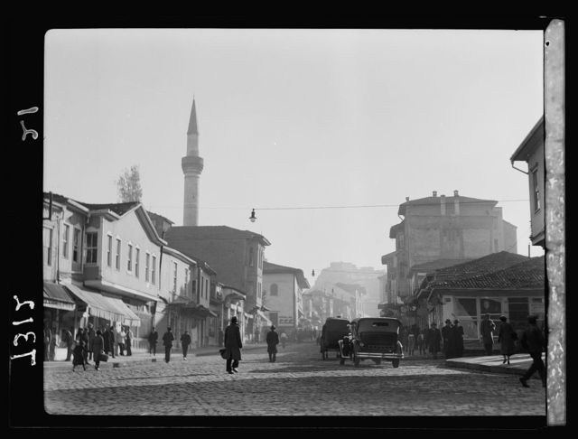 Turkey. Ankara. Street with castle in distance