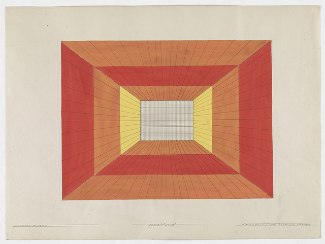 "[Unidentified restaurant or nightclub interior. Ceiling design (""Ceiling in foyer"")] / Winold Reiss Studio."