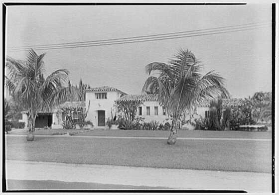 Walter B. Lover, residence at 5801 Alton Rd., Miami Beach, Florida. Entrance detail