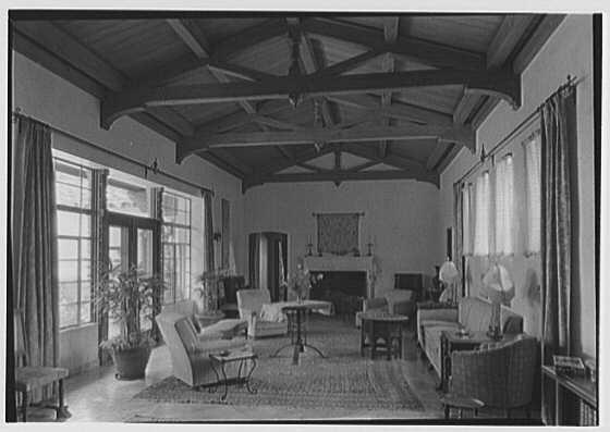 Walter B. Lover, residence at 5801 Alton Rd., Miami Beach, Florida. Living room