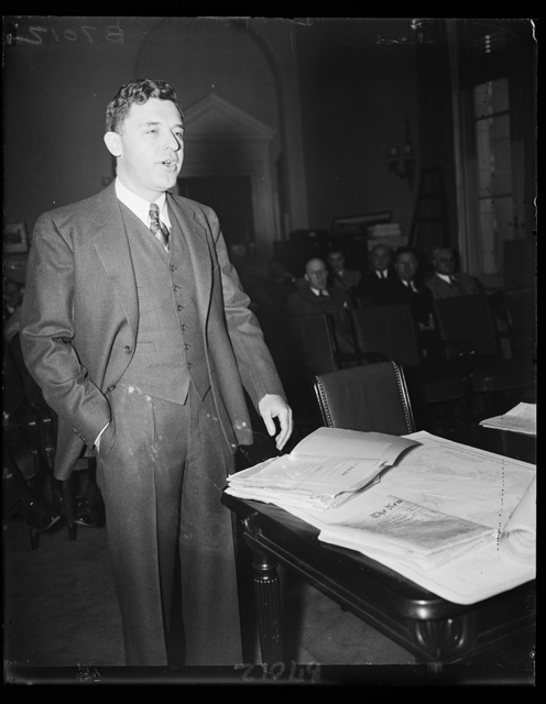 Warns against armed Japanese in California. Rep. John F. Dockweiler, D. of Cal., charged before the House Military Affairs Committee that 25,000 Japanese reservists, fully armed, are in California ready to fight for their country on a moment's notice. Rep. Dockweiler's testimony was interrupted by Chairman John J. McSwain who ruled that such testimony should be given in executive session. 2/13/35