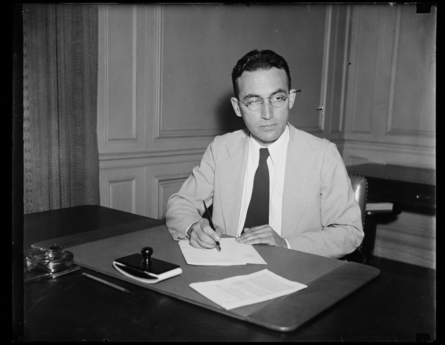 Wash. D.C. Arthur J. Altmeyer, member of the Social Security Board, made today. 9/13/35