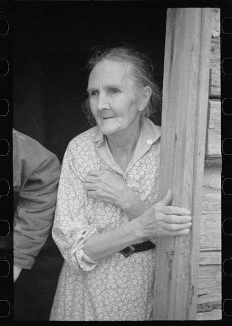 Wife of a prospective client, Brown County, Indiana. Husband and wife will be resettled on new land when their property has been purchased by the government