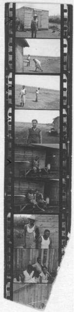 [Zora Neale Hurston and other African Americans, probably at a recording site in Belle Glade, Florida, 1935]