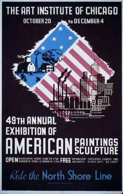 49th annual exhibition of American paintings sculpture Ride the North Shore Line / / M. Waltrip.