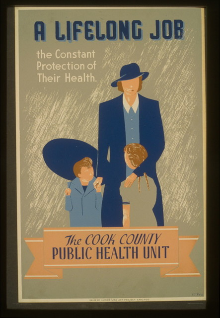 A lifelong job--the constant protection of their health--The Cook County Public Health Unit / E.S. Reid.