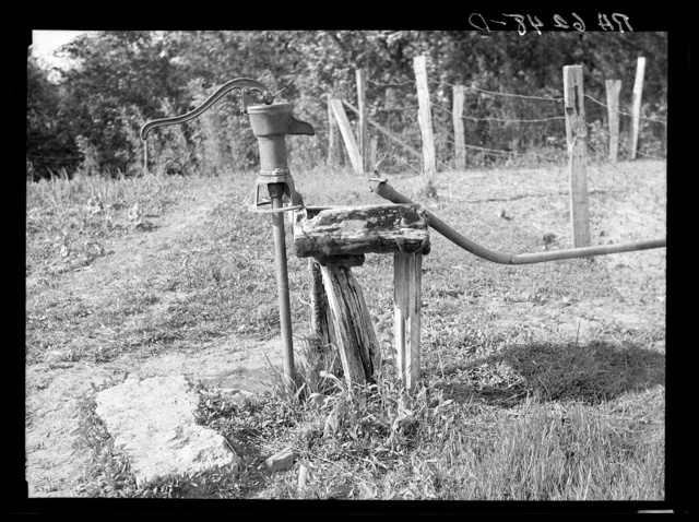 A sharecropper's setup for watering stock. Mississippi County, Missouri