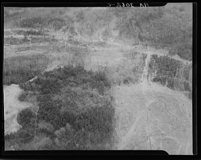 Aerial view of Greenbelt, Maryland, taken from Goodyear blimp