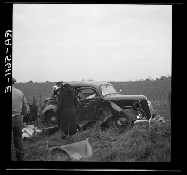 An automobile accident on the U.S. 40 between Hagerstown and Cumberland, Maryland