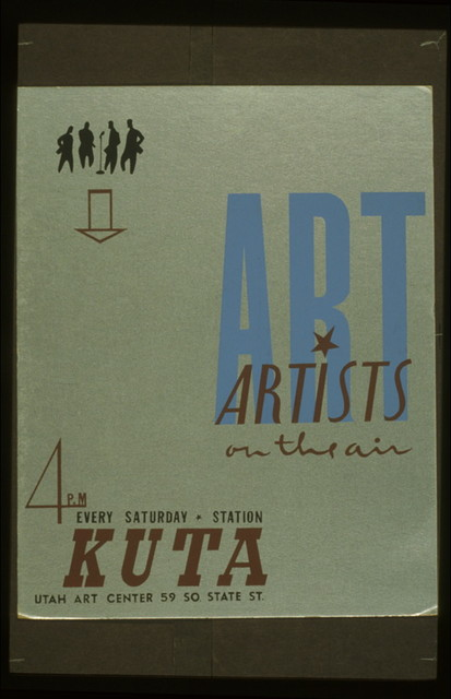 Art Artists on the air : 4 P.M. every Saturday, KUTA.