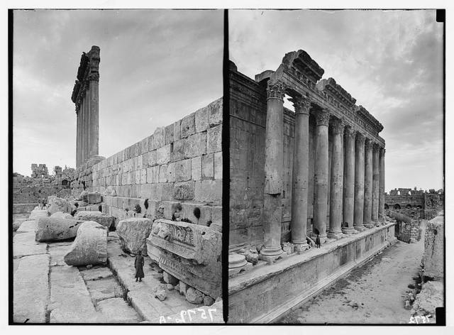 Baalbek. North perestyle [i.e., peristyle] colonnade
