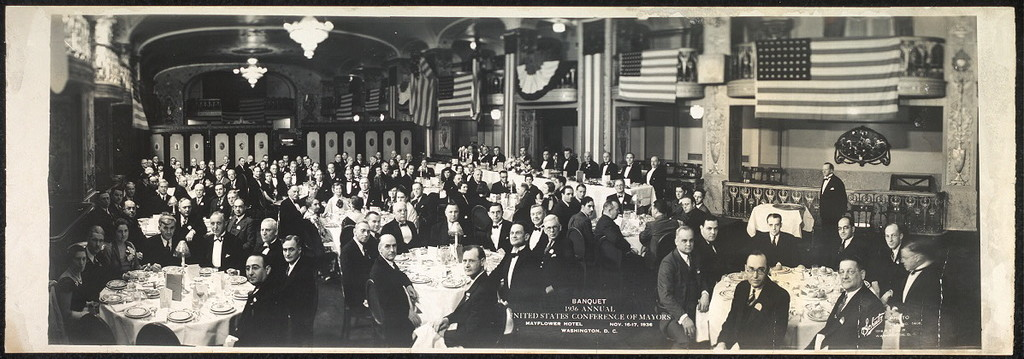 Banquet, 1936 Annual United States Conference of Mayors, Mayflower Hotel, Nov. 16-17, 1936, Washington, D.C.