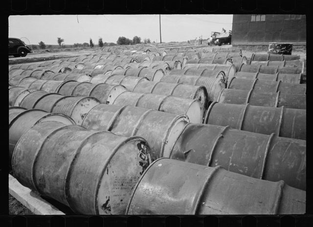 Barrels of tar, Greenbelt, Maryland