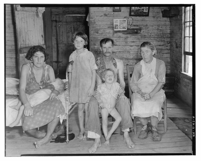 Bud Fields and his family at home