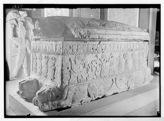 Byblos: Jebeil. Byblos. Sarcophagus of Ahiram, King of Byblos