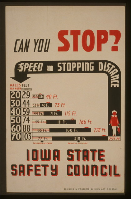 Can you stop? - Speed and stopping distance - Iowa State Safety Council / designed & produced by Iowa Art Program.