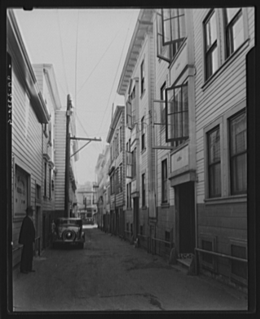 Card Alley. North Bean District (Italians). San Francisco, California