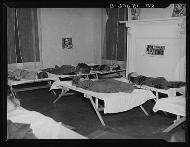 Children having mid-day nap at Westmoreland Homesteads nursery school, Pennsylvania