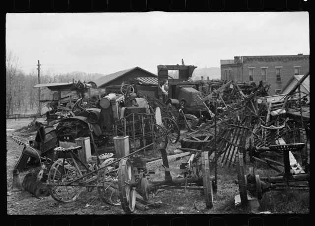 Children playing in junk pile, Jackson, Ohio