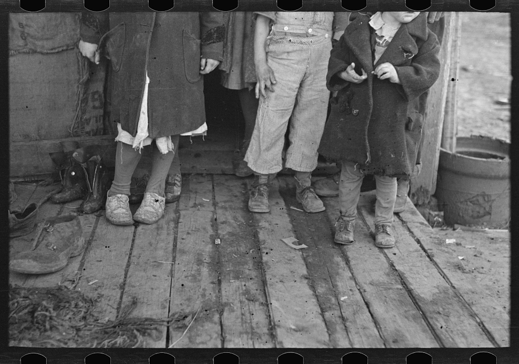 Children's shoes and clothes, Alfred Atkinson family near