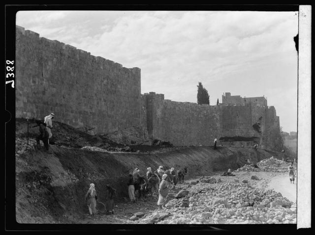Clearing of north city wall, March 1936 [Jerusalem]