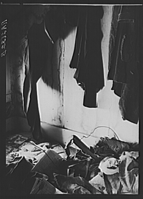 Closet in farmhouse of people to be resettled. Albany County, New York