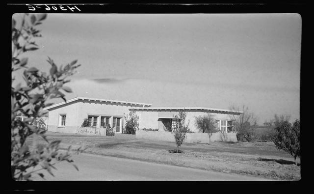 Community building. Chandler tract, Arizona. Adobe construction