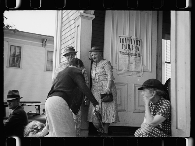 Community hall at the fair, Albany, Vermont