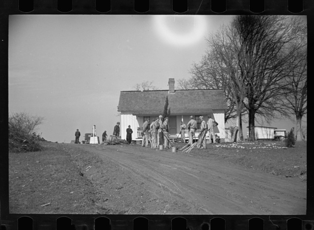 Convicts working on a state road, North Carolina