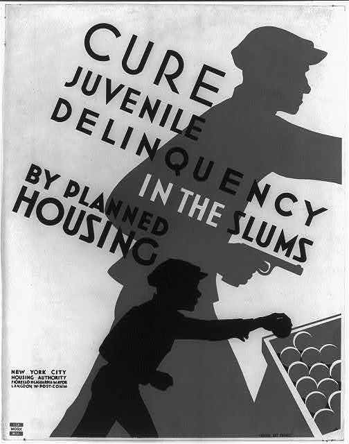 Cure juvenile delinquency in the slums by planned housing