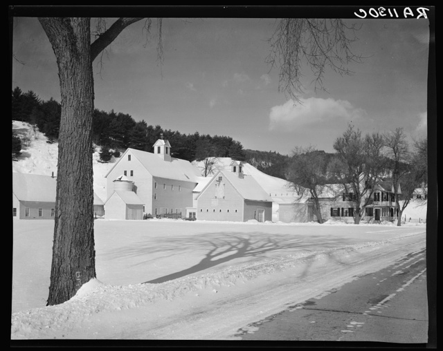 Dairy barns. Windsor County, New Hampshire [i.e. Vermont]