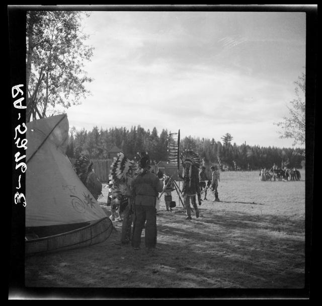 Dakota Indians. Lake Itasca, Minnesota
