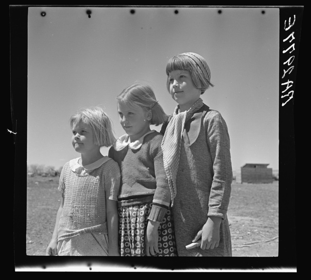 Daughters of resettled farmers. Bosque Farms, New Mexico